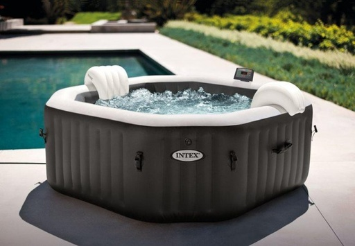 4 persoons Intex PureSpa DeLuxe HWS 800 opzet jacuzzi Ø2,01 m